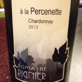 """Cotes du Jura """"à la Percenette"""" Chardonnay 2013 - Domaine Pignier"""