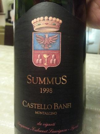 "Sant'Antimo DOC ""Summus"" 1998 - Castello Banfi"