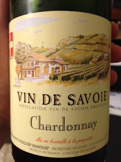 Vin de Savoie Chardonnay 2013 - Domaine Dupasquier