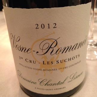Vosne-Romanée 1er cru Les Suchots 2012 - Chantal Lescure