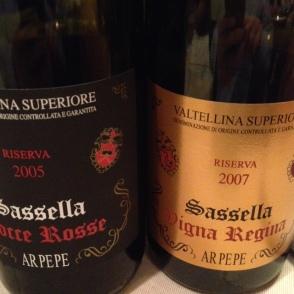 """Sassella Riserva """"Rocce Rosse"""" 2005 e Sassella Riserva """"Vigna Regina"""" 2007 - AR PE PE"""