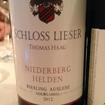 Niederberg Helden Riesling Auslese Goldkapsel 2012 - Schloss Lieser (Thomas Haag)