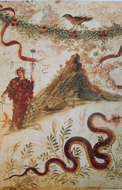 Bacco e il Vesuvio, Casa del Centenario (Pompei); 68 - 79 d.C.