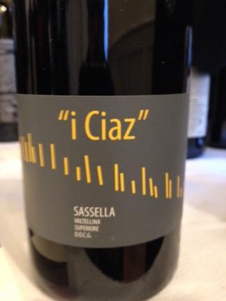 "Sassella Valtellina Superiore ""i Ciaz"" 2013 - Cooperativa Triasso e Sassella"