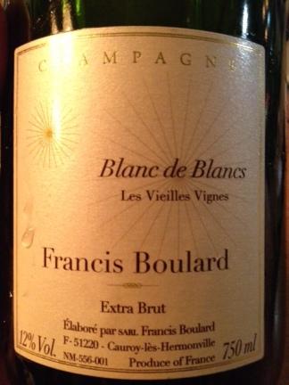Champagne Blanc de Blancs Extra Brut Les Vieilles Vignes - Francis Boulard
