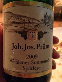 Riesling Wehlener Sonnenuhr Spätlese 2009 - Joh. Jos. Prüm
