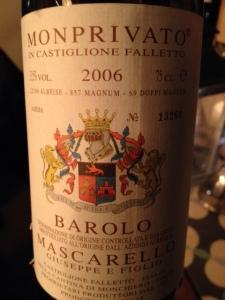 Barolo Monprivato 2006 - Mascarello