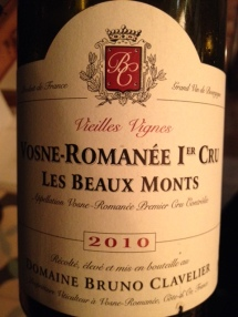 Vosne-Romanée 1er cru Les Beaux Monts 2010 - Bruno Clavier