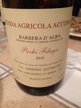 """Barbera d'Alba """"Pochi Filagn"""" 2010 - Accomasso"""
