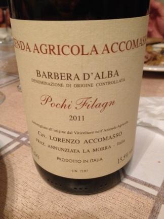"""Barbera d'Alba """"Pochi Filagn"""" 2011 - Accomasso"""