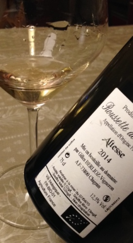 """Roussette de Savoie Altesse """"El-hem"""" 2014 - Gilles Berlioz"""
