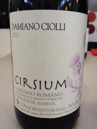 """Cesanese di Olevano Romano DOC """"Cirsium"""" 2013 - Damiano Ciolli"""