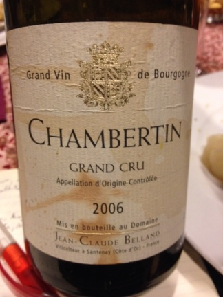 Chambertin Grand Cru 2006 - Belland