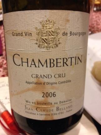 Chambertin Grand Cru 2006 - Belland