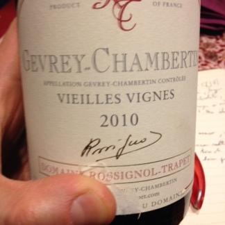 Gevrey-Chambertin v.v. 2010 - Rossignol-Trapet