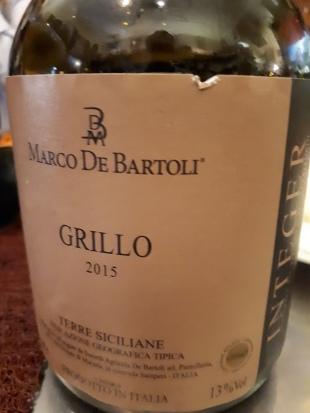 """Terre Siciliane Grillo """"Integer"""" 2015 - Marco De Bartoli"""