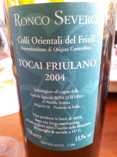 Tocai Friulano 2004 - Ronco Severo