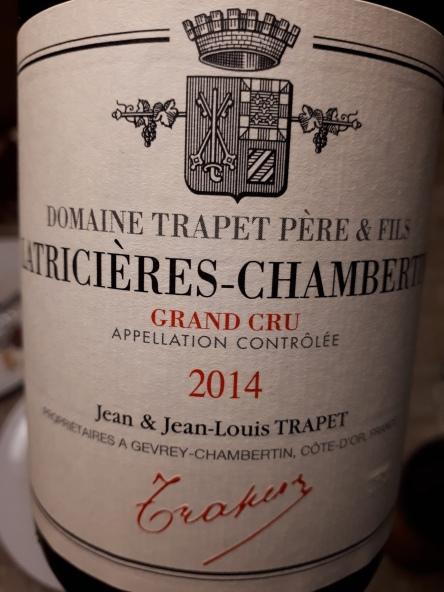 Latricières-Chambertin g.c. 2014 - Trapet