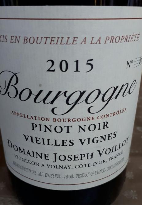 Bourgogne Pinot Noir v.v. 2015 - Joseph Voillot