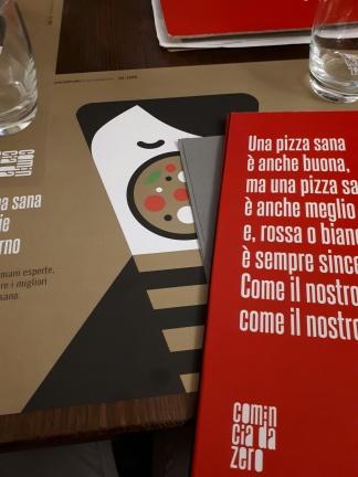 Da Zero: menu e tovaglietta