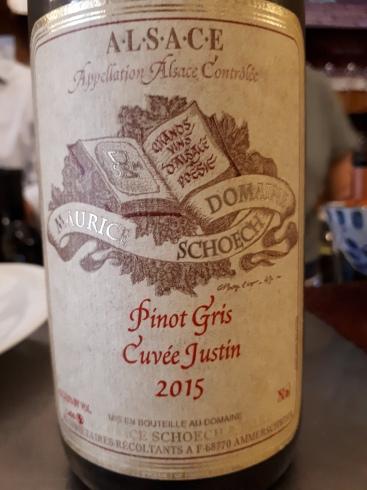 Alsace Pinot Gris Cuvée Justin 2015 - Maurice Schoech