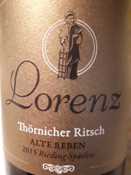 Thörnicher Ritsch Alte Reben Riesling Spätlese 2015 - Weingut Lorenz
