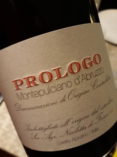 """Montepulciano d'Abruzzo """"Prologo"""" 2014 - De Fermo"""