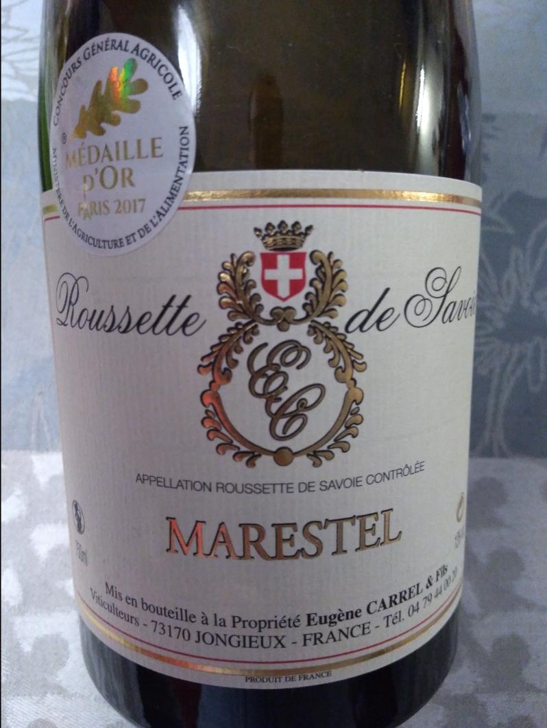 Roussette de Savoie Marestel 2015 - Eugène Carrel