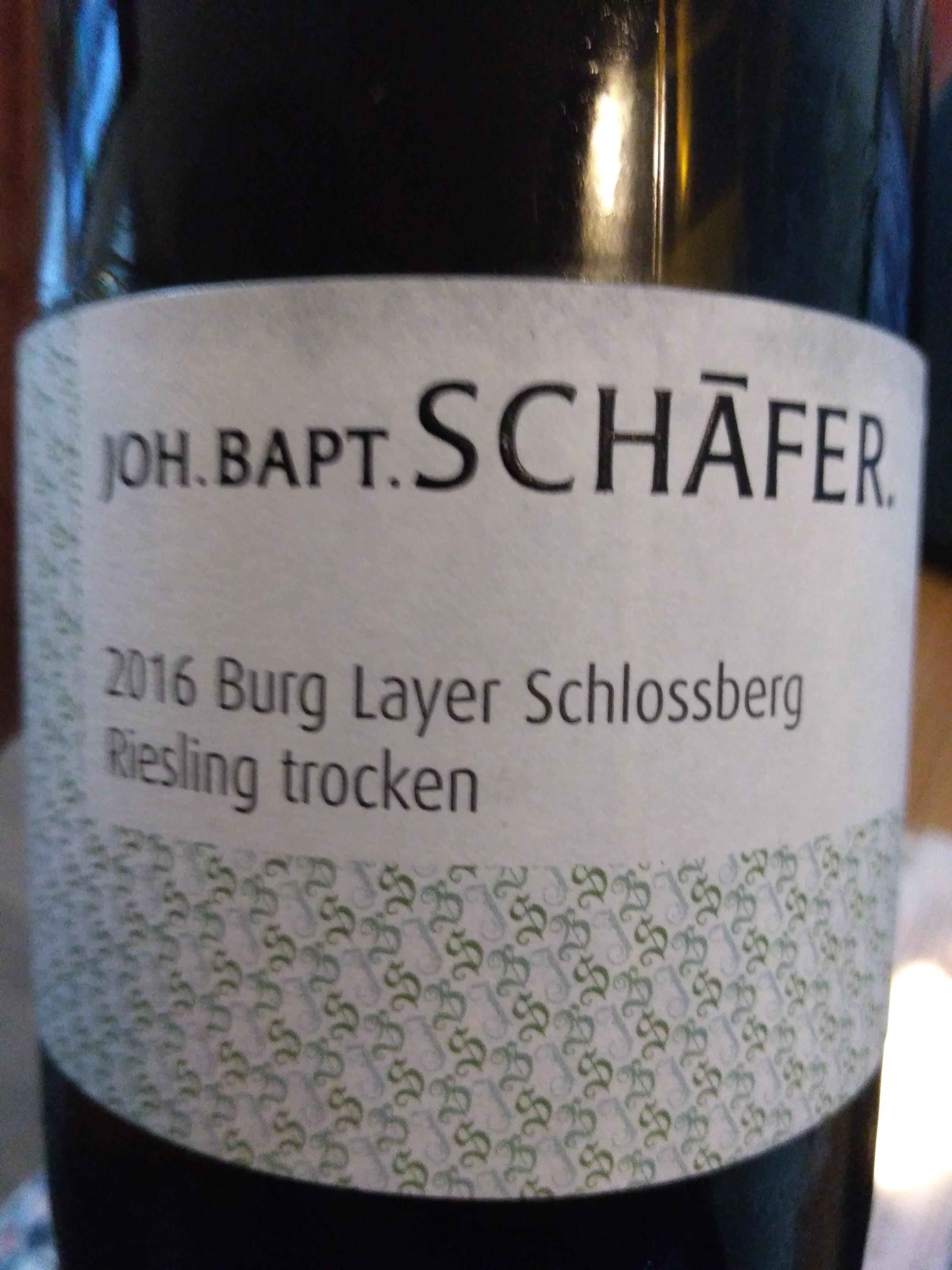 Nahe Burg Layer Schlossberg Riesling trocken 2016 - Joh. Bapt. Schäfer