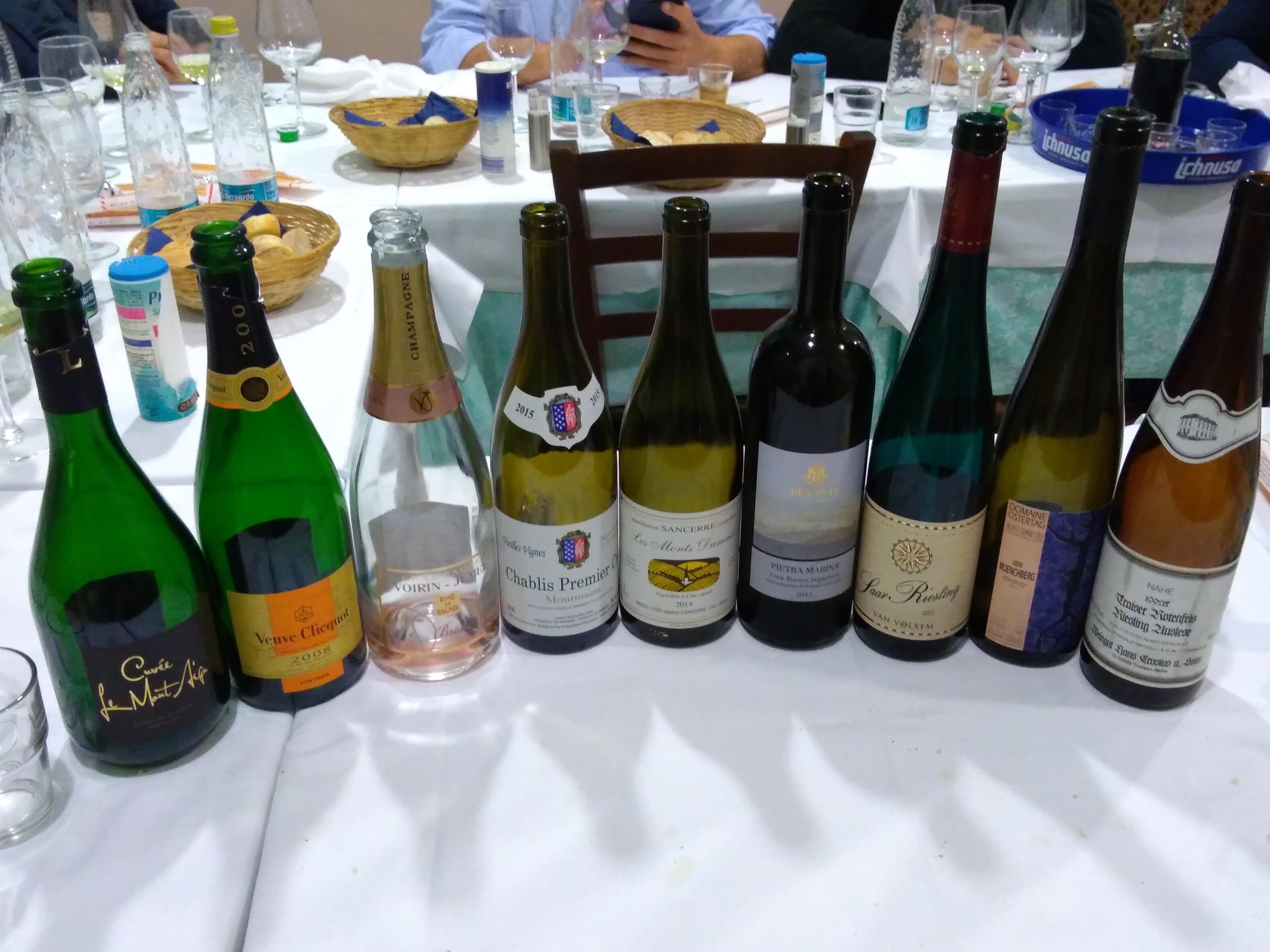 Champagne, riesling e altri bianchi...