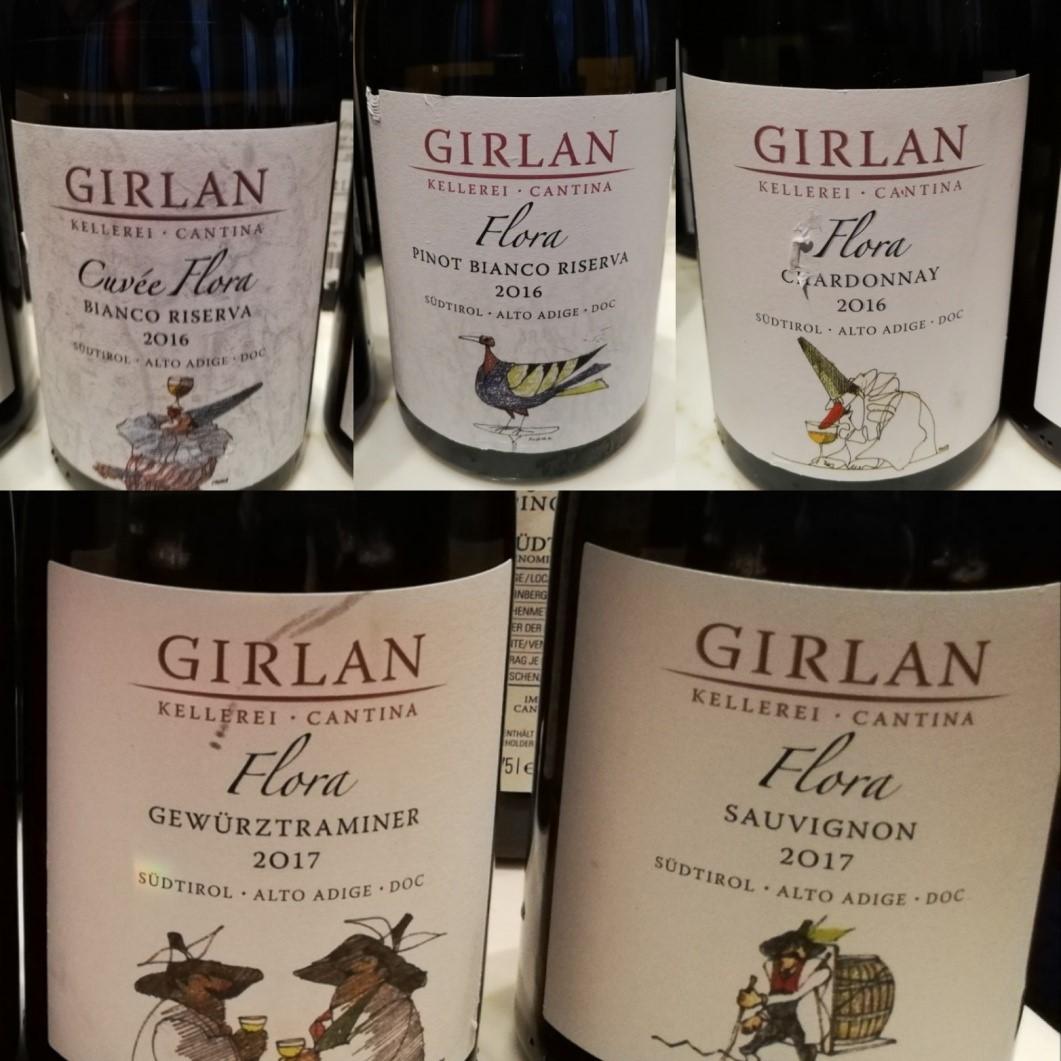 Girlan, i vini bianchi