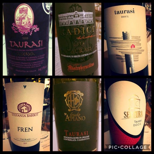 Taurasi: i vini in degustazione