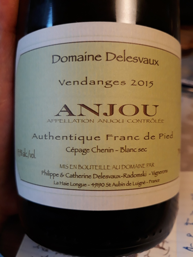 """Anjou """"Authentique Franc de Pied"""" 2015 - Domaine Delesvaux"""